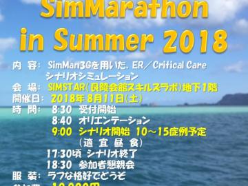 SimMarathon in Summer 2018